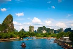 桂林河yulong 库存图片