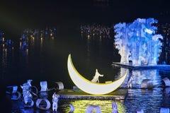 桂林,中国, 2014年3月,第24,印象刘三姐展示perfo 免版税库存图片