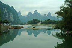 桂林lijiang河风景 库存照片