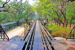 桂河大桥,北碧,泰国 库存图片