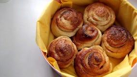 桂香小圆面包 库存图片