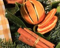 桂香接近的桔子缠绕 免版税库存图片