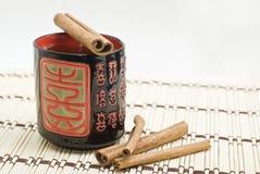 桂香热茶与 免版税库存图片