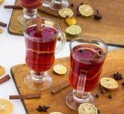 桂香被仔细考虑的酒 免版税库存图片