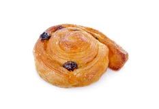 桂香risin小圆面包在白色背景的卷漩涡 图库摄影