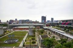 桃园国际机场通入MRT系统 免版税图库摄影
