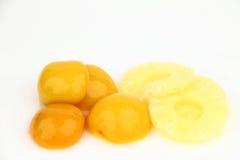 桃子和菠萝 免版税库存图片