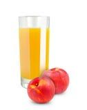 桃子汁 免版税库存照片