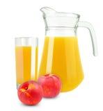桃子汁 库存照片