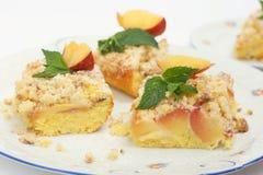 桃子蛋糕 库存图片