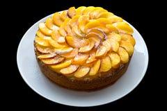 桃子蛋糕 免版税库存图片