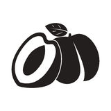 桃子象,导航平的标志 免版税库存图片