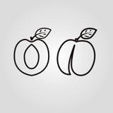 桃子象,导航平的标志 库存图片