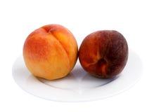桃子镀成熟 免版税库存图片