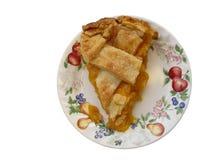 桃子饼片式 免版税库存照片
