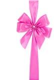 桃红色丝带和弓 图库摄影