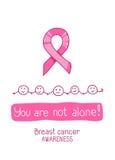 桃红色丝带,乳腺癌了悟的国际标志 免版税库存照片