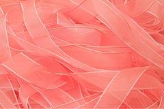 桃红色丝带 免版税图库摄影