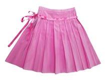 桃红色丝绸裙子 免版税库存照片