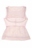 桃红色丝绸女衬衫 免版税库存图片
