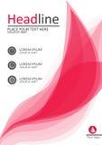 A4桃红色书的盖子设计,报告,横幅 向量 免版税库存照片