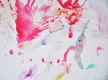 桃红色五颜六色的形状和闪耀的光,抽象背景 免版税库存图片
