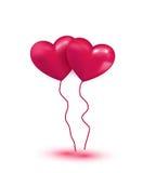 桃红色五颜六色的气球 库存照片
