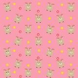 桃红色亲爱的样式用糖果和星 免版税图库摄影