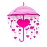 桃红色伞 库存图片