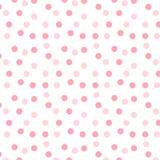 桃红色光点图形 库存例证