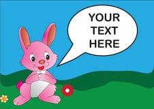 桃红色兔子 库存照片