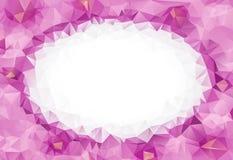 桃红色几何弄皱的三角低多origami样式梯度例证图表背景为情人节 免版税库存照片