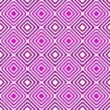 桃红色几何正方形眩晕无缝的样式 库存照片