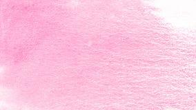 桃红色创造性的水彩油漆背景,美丽的行星 向量例证
