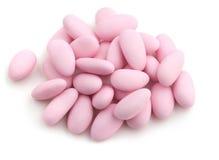 桃红色加糖的杏仁 免版税图库摄影