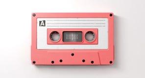 桃红色卡式磁带混合磁带 免版税库存照片