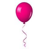 桃红色发光的气球 免版税图库摄影