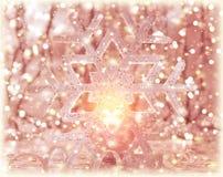 桃红色发光的Christmastime装饰 免版税图库摄影