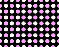 桃红色和白色被加点的背景 免版税库存图片