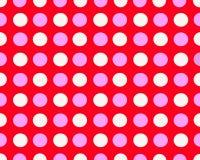 桃红色和白色被加点的背景 免版税图库摄影