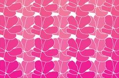 桃红色和白花样式背景 库存图片