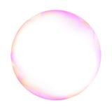 桃红色和空白肥皂泡 免版税图库摄影
