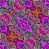 桃红色和紫色无缝的万花筒 库存例证