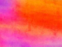 桃红色和红色被混和的水彩油漆纹理 免版税库存图片