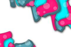 桃红色和蓝色不规则形状,抽象背景 免版税图库摄影