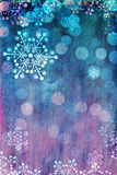 桃红色和蓝色圣诞卡 库存图片