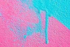 桃红色和蓝色油漆 免版税库存照片