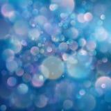 桃红色和蓝色满天星斗的闪烁冷的被定调子的bokeh抽象光背景 10 eps 库存例证