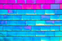 桃红色和蓝色铺磁砖背景 免版税库存照片