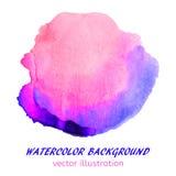 桃红色和蓝色水彩污点 您的desi的抽象背景 免版税库存照片